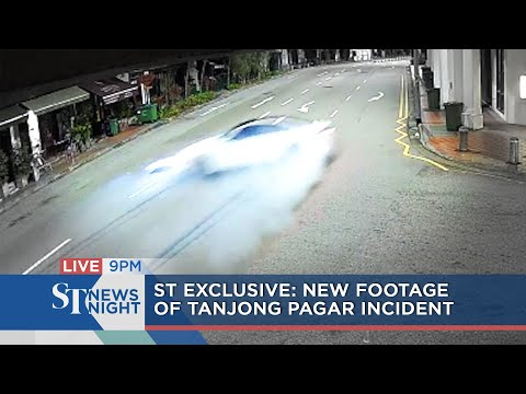 Exclusive Footage Of Tanjong Pagar Incident   ST NEWS NIGHT