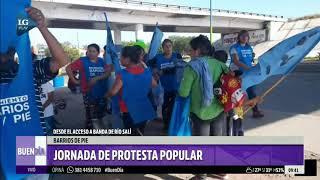 Cortan el puente Lucas Córdoba para protestar