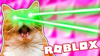 GIANT CAT MIT LASER RAY EYES IN ROBLOX - Roblox lustige Momente #93 🤣🎮