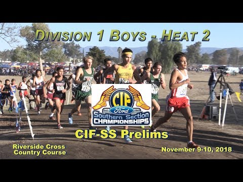 2018 XC - CIF-ss Prelims - 10 (Div 1 Boys, Heat 2 of 3)