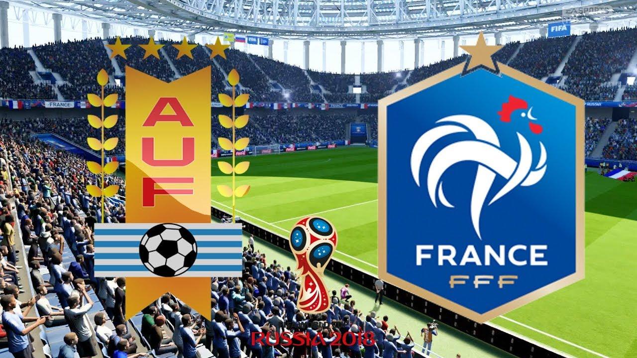 world cup 2018 quarter final - uruguay vs france  07
