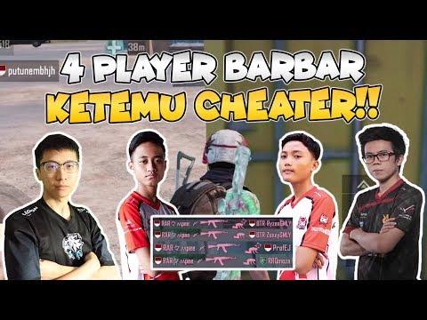 KETIKA TIM BTR ZUXXY, BTR RYZEN, BENNYMOZA, EJGAMING KETEMU CHEATER EDANN!!- PUBG Mobile Indonesia