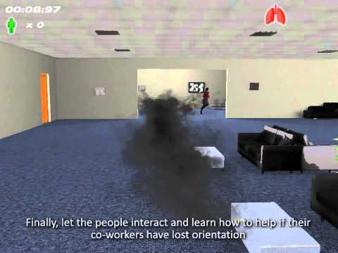 Emergency evacuation simulator demo by Program-Ace (HD)