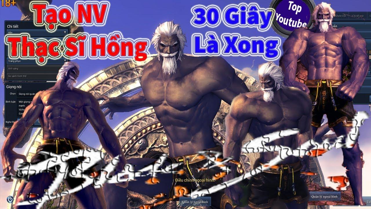 Tạo Nhân Vật Thạc Sĩ Hồng game blade and soul P4-Top Youtube