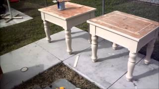 Painting 101 - Restore Your Old Furniture From Blah To Viola! Old End Tables Made New!