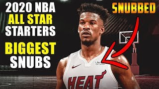 2020 NBA ALL STAR GAME STARTERS BIGGEST SNUBS