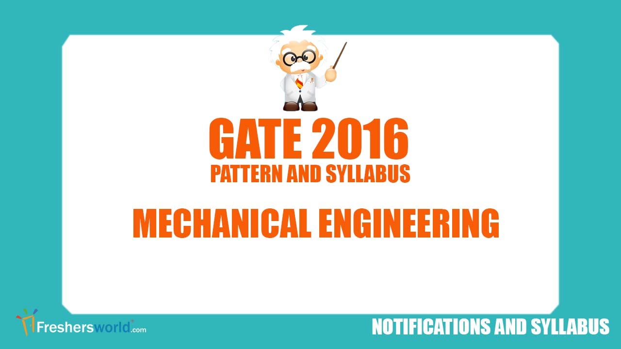 Gate Syllabus For Mechanical Pdf