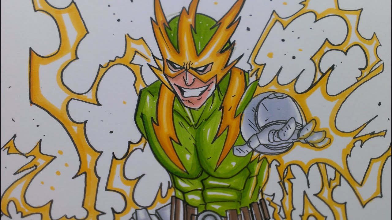 Drawing Electro From The Amazing Spiderman
