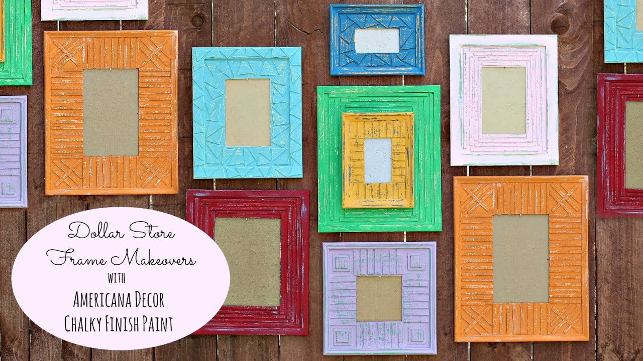 HOW TO: Add Interest to Dollar Store Frames - YouTube