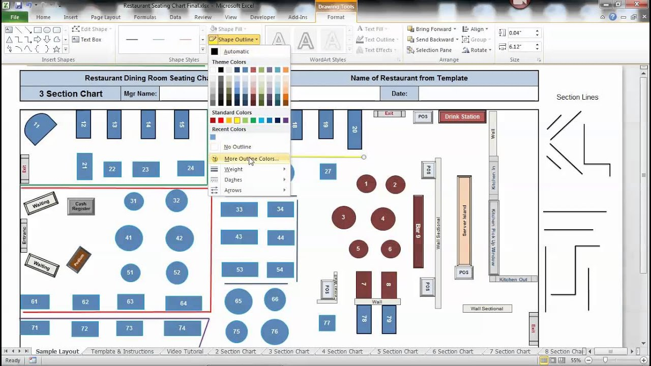 Table Seating Chart - YouTube