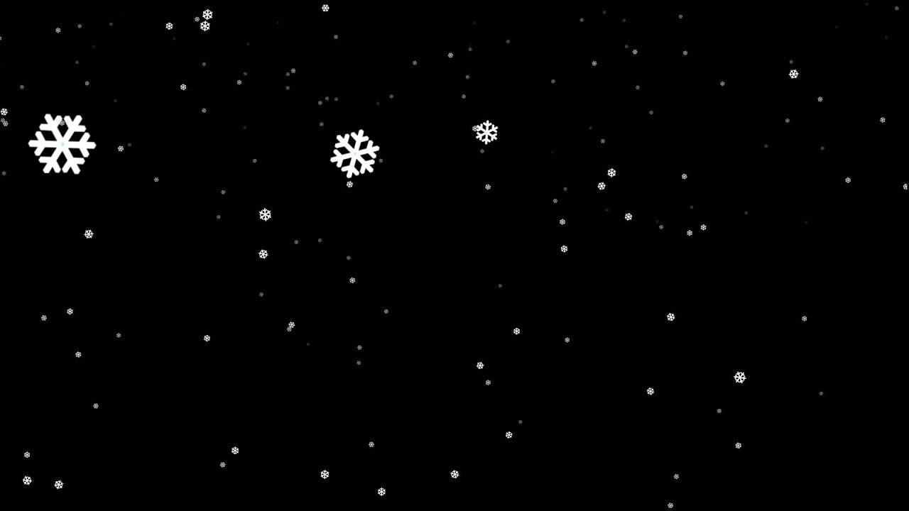 standard snowflakes falling (+alpha channel) - free HD ...  standard snowfl...
