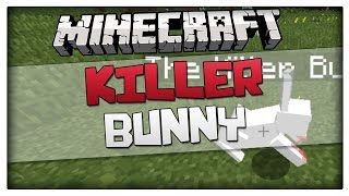 Minecraft 1.8.1 - The Killer Bunny summon command! (How to spawn killer rabbit)