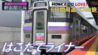(4)733系快速はこだてライナーで新函館北斗駅へイカないか?【HOKKAIDO LOVE!6日間周遊パスの旅】