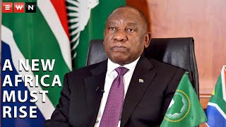 Peaking during the Africa day special broadcast African Union chairperson President Cyril Ramaphosa said that a new Africa united by a common goal should come to the fore after the Coronavirus pandemic. He also paid tribute to previous African leaders as the continent celebrates the 57th Africa Day.  #AfricaDay #AfricanUnion #CyrilRamaphosa
