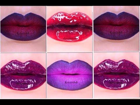 Tutorial de maquillaje labios intensos bicolor y en for Labios mate paso a paso