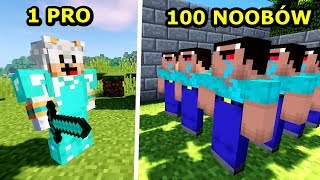 1 PRO YOUTUBER VS 100 NOOBÓW! Hypixel Battle Royale