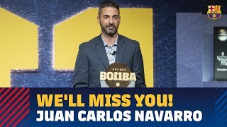 Tears and applause as Juan Carlos Navarro gives farewell conference