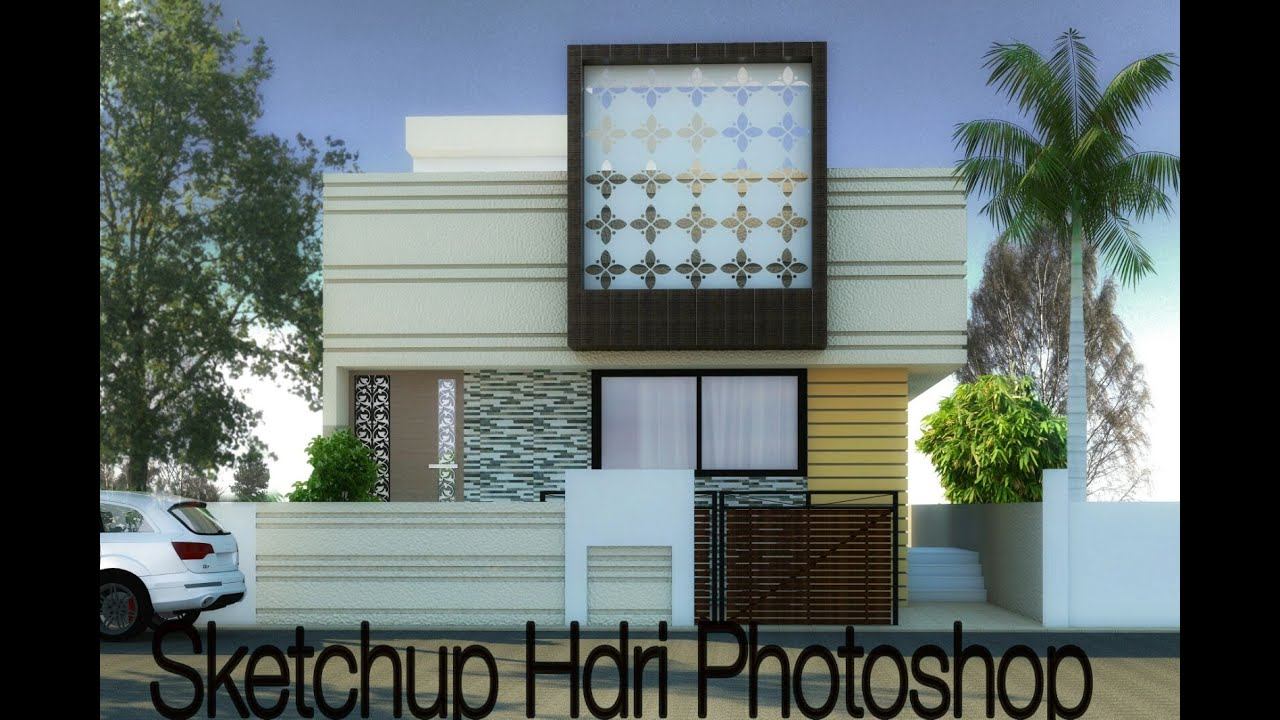 Sketchup Photoshop Post Proccesing Youtube
