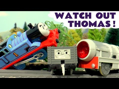 Thomas and Friends Toy Trains Jet Engine and Accidents - Fun Train Toy Stories for kids TT4U