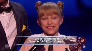 【中英字幕】2016美国达人秀冠军 12岁天才小姑娘 Grace Vanderwaal 第三场比赛 原创歌曲:Light the Sky