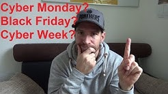 Black Friday Cyber Monday Cyber Week kurz erklärt was man wissen muss