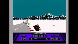 Rad Racer - Course 6: Snow White Line (NES)