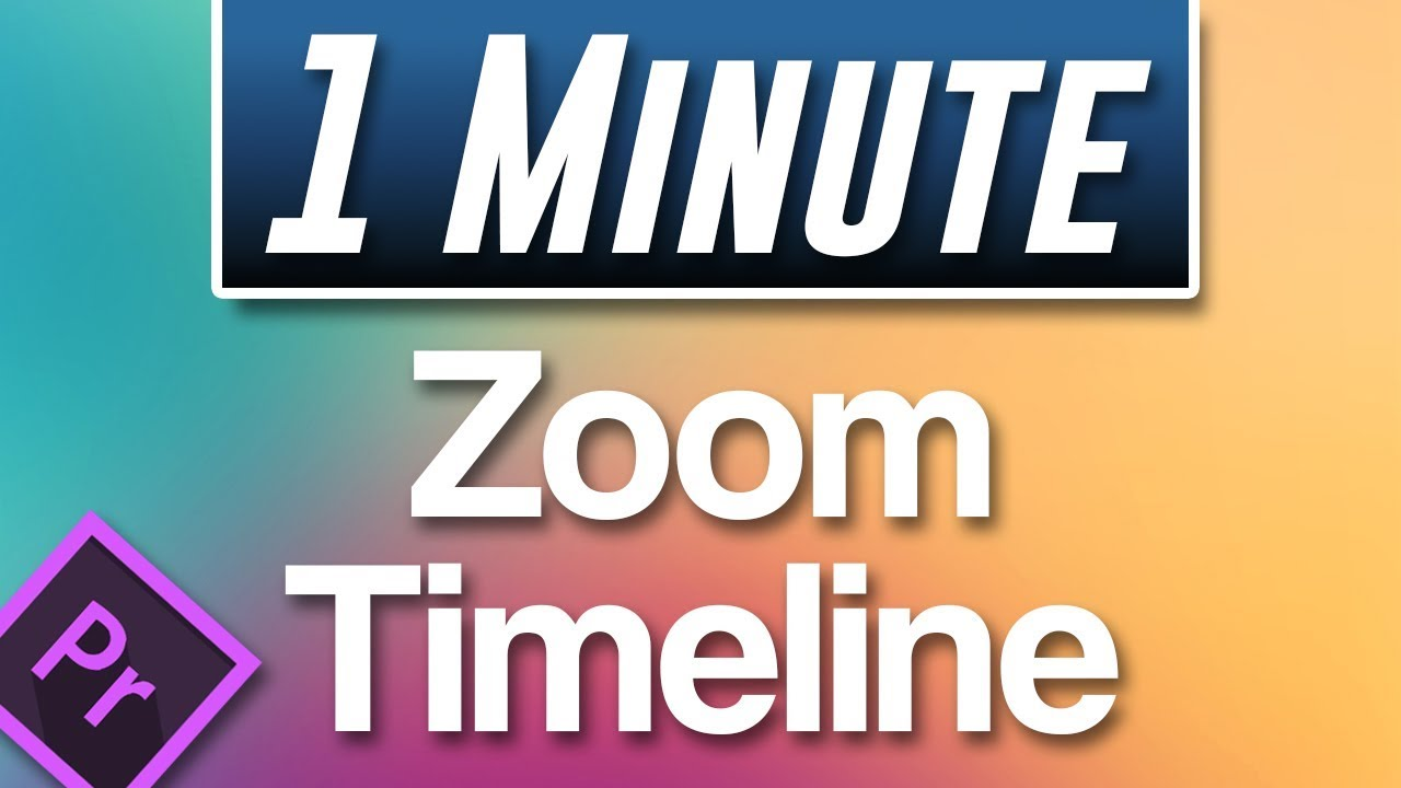 Premiere Pro CC : How to Zoom in on Timeline