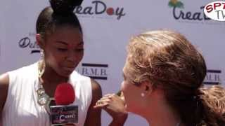 Actress Nafessa Williams with BeautyNCarpet