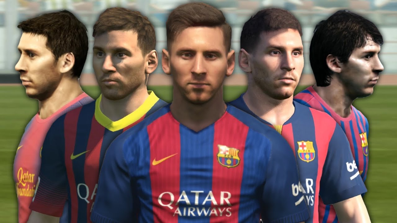 Messi from PES 4 to PES 2017