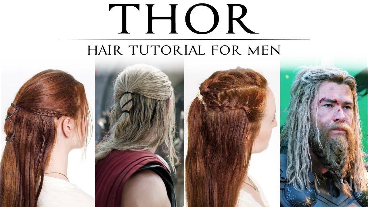 Hair Tutorial For Men Thor In Ragnarok Avenger S Endgame Youtube
