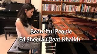 Gambar cover Ed Sheeran - Beautiful People (feat.Khalid) Piano Cover