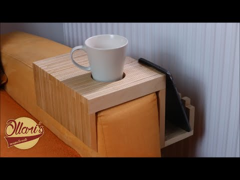 Making a Plywood Sofa Tray / Drink Holder