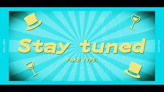 [Lyric Video] FAKE TYPE. - Stay tuned