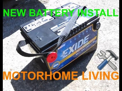 Replacing Class A Motorhome Ignition Battery - YouTube