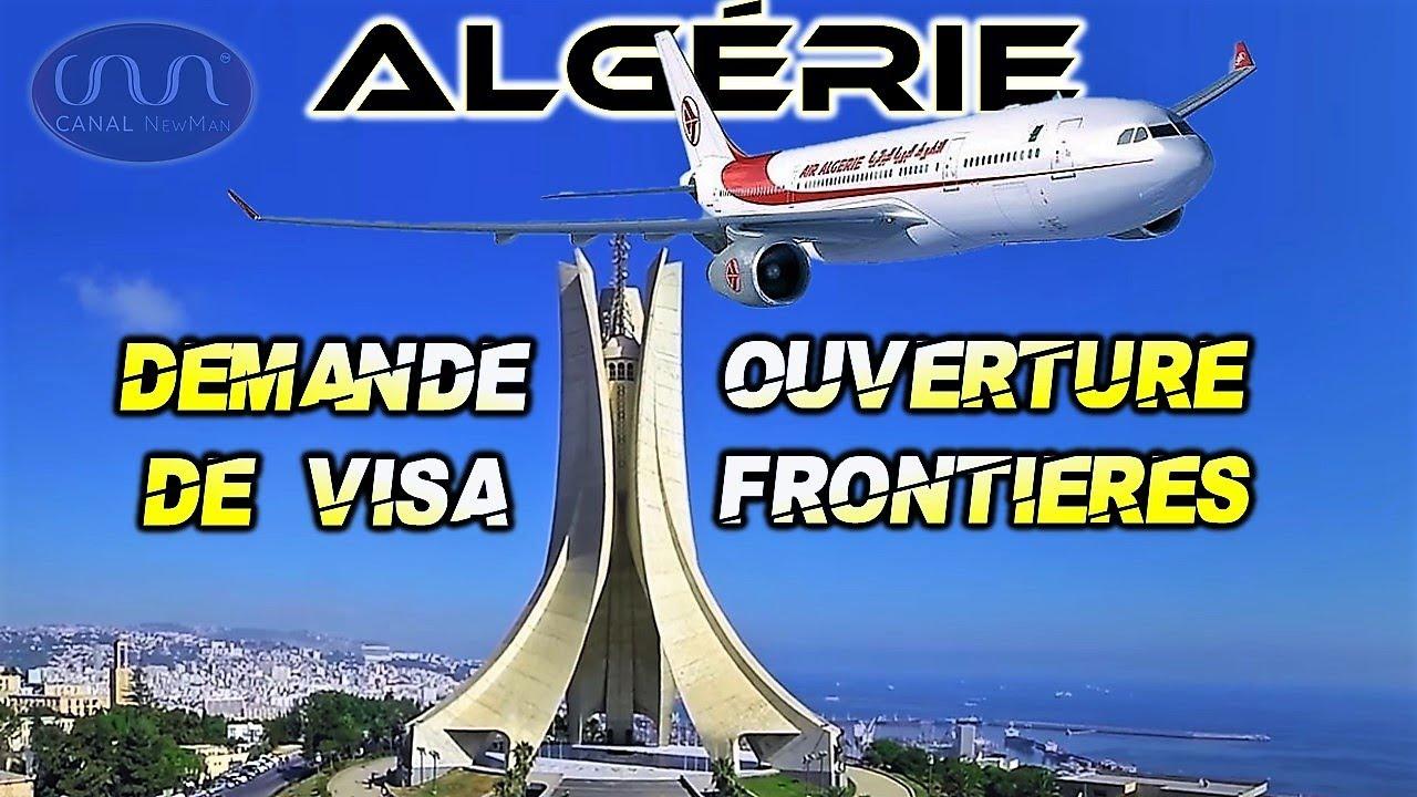 Reprise des demandes de Visa Schengen et Réouverture des frontières Algériennes