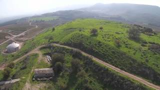Abel Beth Ma'acha - Eastern Aerial view (BibleWalks.com)