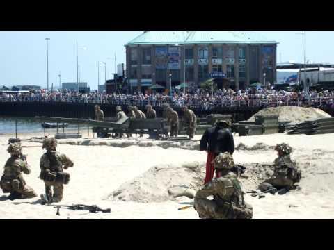 Royal Engineers beach raid at Weymouth
