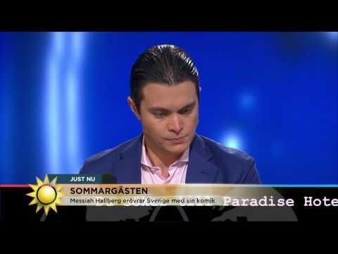 """Stand up-stjärnskottet Messiah Hallberg: """"Ingen förstod min humor"""" - Nyhetsmorgon (TV4)"""