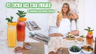 A DAY IN MY WORK LIFE | How I Make Money + Vegan Eats 🌿💰