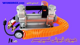 Heavy Duty 12v Car Air Compressor in Pakistan - Best Price Portable Tyre Inflator Pump