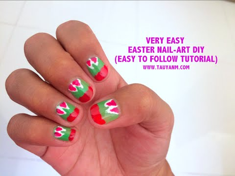 How To Easy Easter Nail Art Diy Tutorial For Beginners Jane