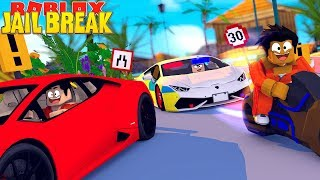 ROBLOX JAIL BREAK - THE GREAT ESCAPE ON THE SUPER VOLT BIKE & BUGATTI VEYRON!