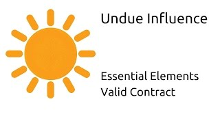 What is Undue Influence | Other Essential Elements of a Valid Contract | CA CPT | CS & CMA