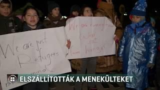 Buszokkal szállították el a menekülteket a szerbek a határról 20-02-07