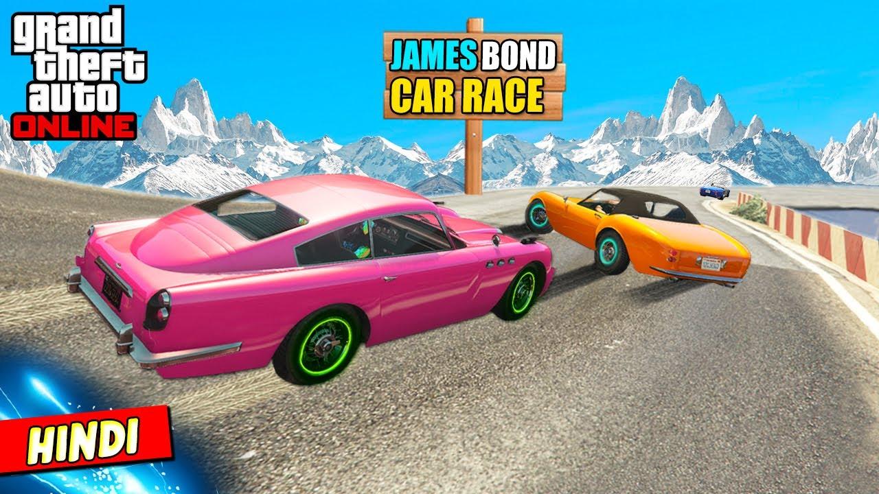 GTA 5 : JAMES BOND 007 CLASSIC RACE & CHASE (FUNNY) 💣❌
