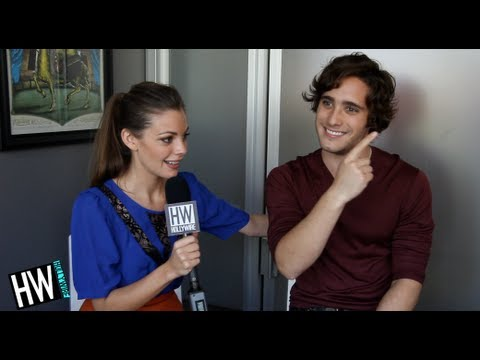 Diego Boneta & Sarah Play Silly Game  MTV's 'Underemployed'