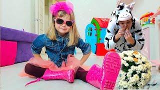 Смешные истории для детей - с сестричкой  папой и Nastya Play