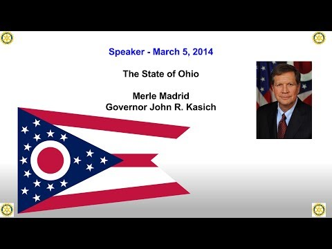 Rotary Speaker: Merle Madrid, Office of Governor John R. Kasich