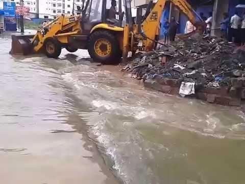 Nizampet, Bandari Layout Heavy  floods - Hyderabad Rains- 2016
