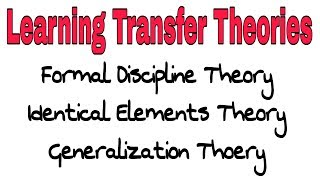Learning Transfer Theories